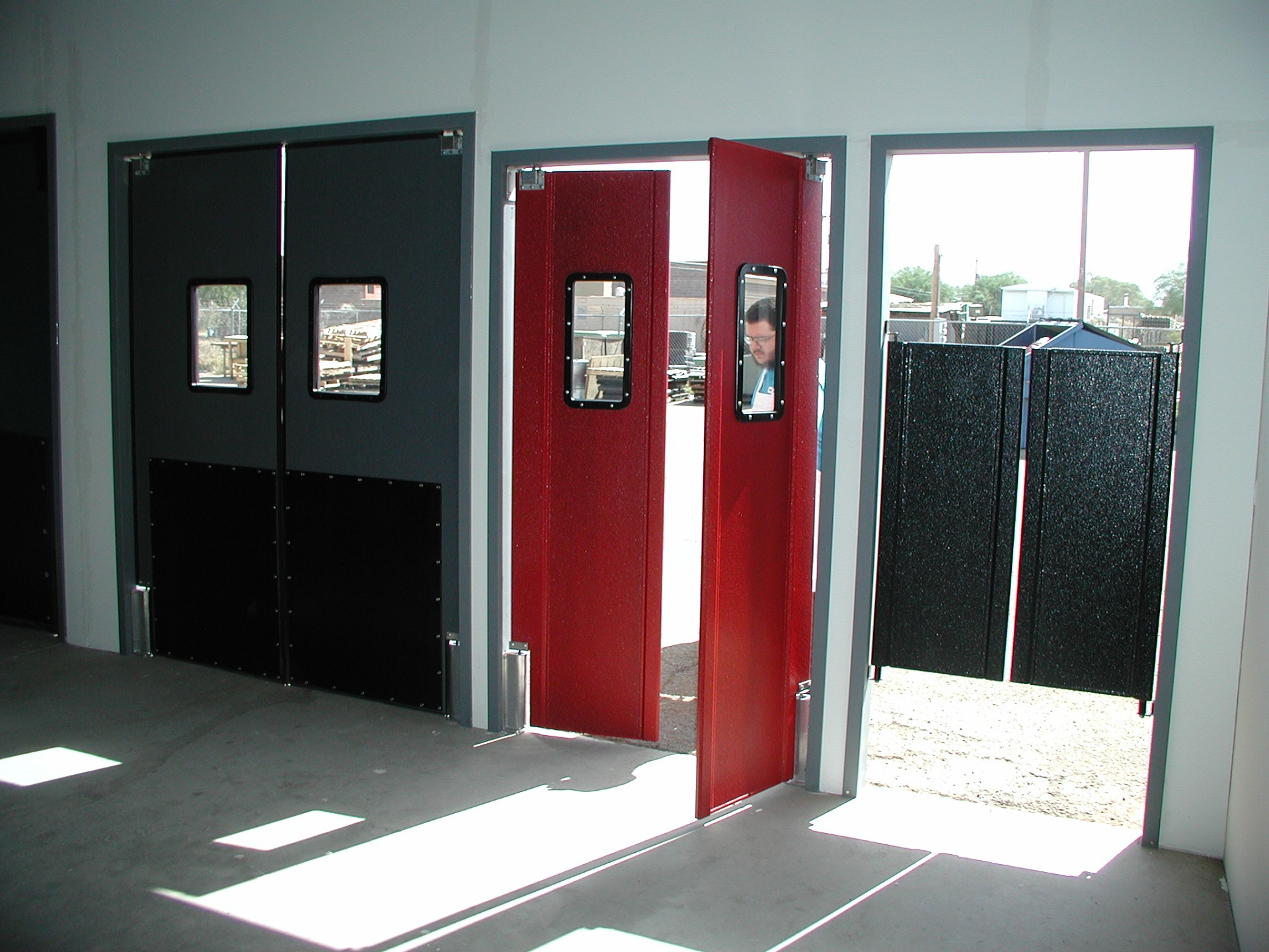 What is a double acting door?